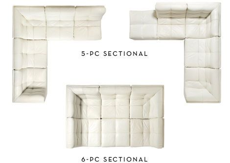 5-Piece Sectional, 6-Piece Sectional