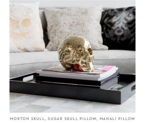 THe Morton Skull and Sugar Skull Pillow