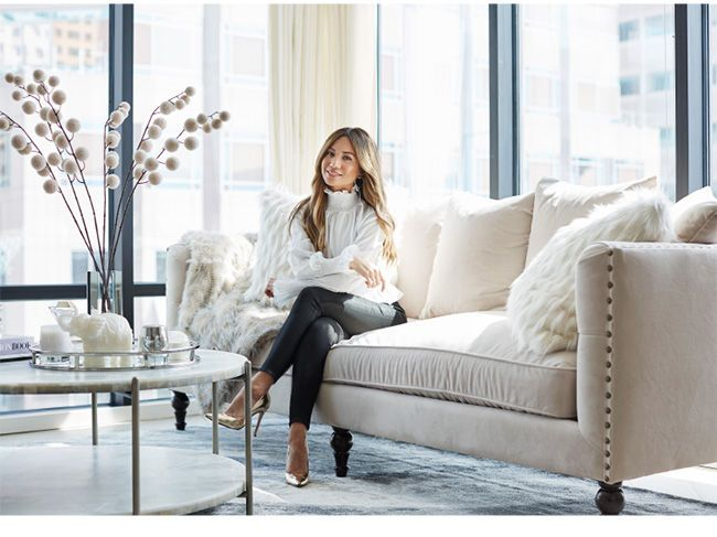 Jessi Malay's Livingroom featuring the Roberto sofa