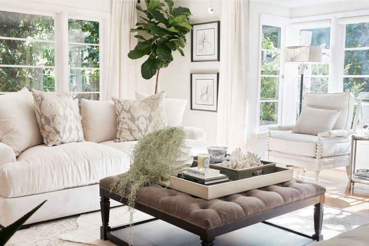Sazan and Stevie's new chic livingroom