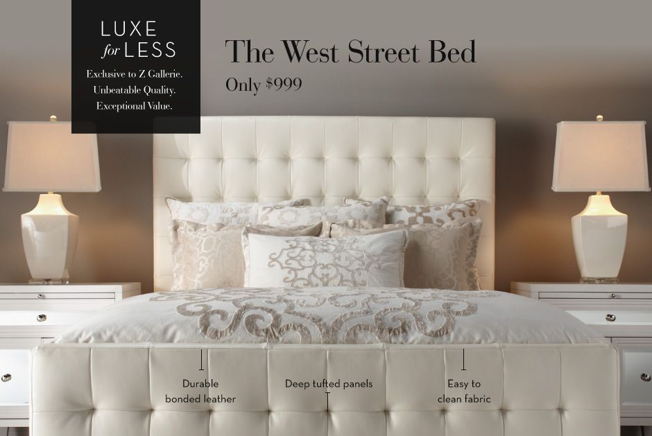 Luxe for Less - The West Street Bed