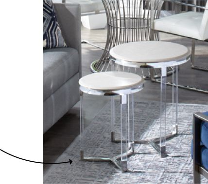 Transparent stacked side tables