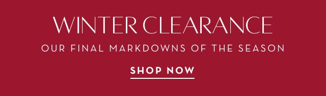 Winter Clearance Event - Shop Now