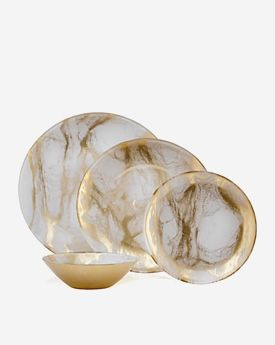 Marble Dinnerware - Set of 4