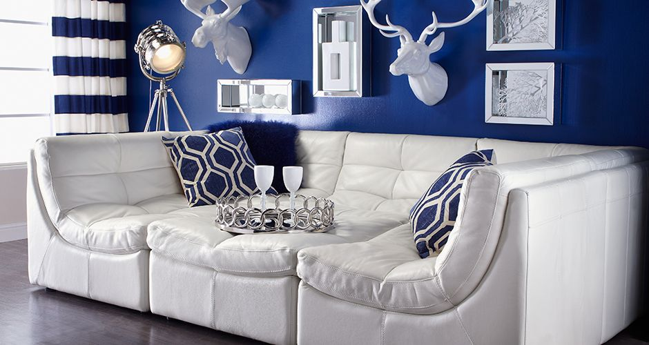 Sapphire and White Spring Livingroom