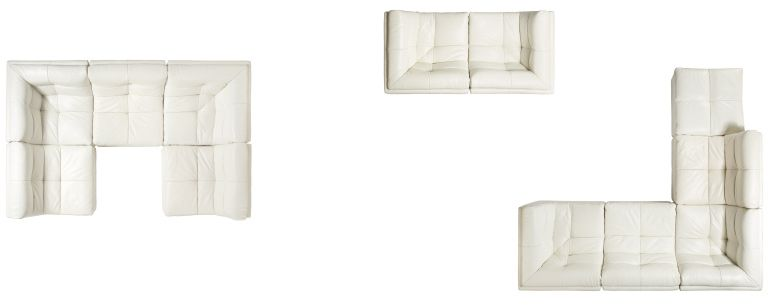 5-piece and 2-piece sectional configurations
