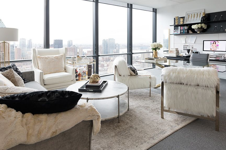 Cosmopolitan's Editor-In-Chief's Office Makeover featuring furniture and accessories by Z Gallerie