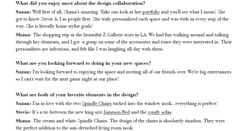 What did you enjoy most about the design collaboration? ...
