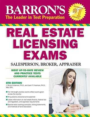 Barron's Real Estate Licensing Exams: Salesperson, Broker, Appraiser - Lindeman, J Bruce, and Friedman, Jack P