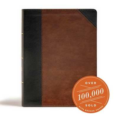 CSB Tony Evans Study Bible, Black/Brown Leathertouch, Indexed - Evans, Tony, and Csb Bibles by Holman (Editor)