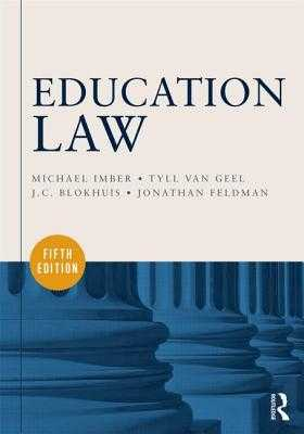 Education Law - Imber, Michael, and Van Geel, Tyll, and Blokhuis, J C