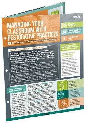 Managing Your Classroom with Restorative Practices (Quick Reference Guide 25-Pack) - Smith, Dominique, and Fisher, Douglas, and Frey, Nancy, Dr.