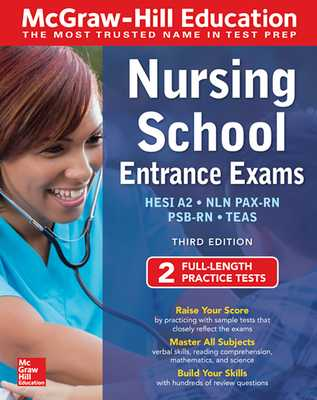 McGraw-Hill Education Nursing School Entrance Exams, Third Edition - Evangelist, Thomas A, and Hanks, Wendy, and Orr, Tamra