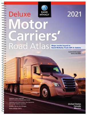 Rand McNally 2021 Deluxe Motor Carriers' Road Atlas - Rand McNally