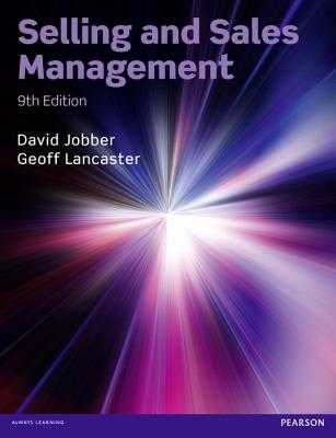 Selling and Sales Management - Jobber, David, and Lancaster, Geoffrey