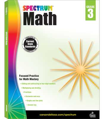 Spectrum Math Workbook, Grade 3 - Spectrum (Compiled by)