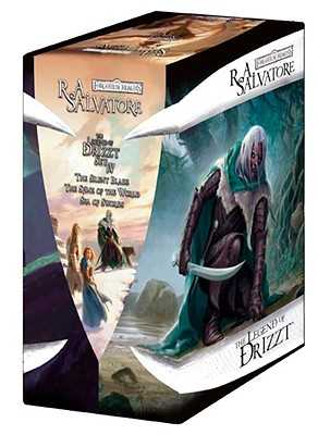"The Legend of Drizzt: ""The Silent Blade"" WITH ""The Spine of the World"" AND ""Sea of Swords"" Set 4 - Salvatore, R. A."