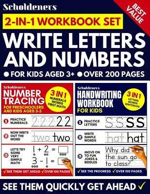 Write Letters And Numbers: Number Tracing & Handwriting Workbook for Kids (Preschoolers, Kids Ages 3-5, Pre K, K) - Scholdeners