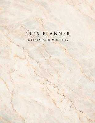 2019 Planner Weekly and Monthly: Large 52 Week Planner with To-Do List (Marble Cover Volume 4) - Planners, Miracle