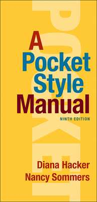 A Pocket Style Manual - Hacker, Diana, and Sommers, Nancy