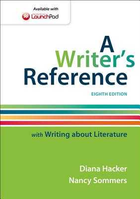A Writer's Reference: With Writing about Literature - Hacker, Diana