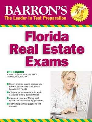 Barron's Florida Real Estate Exams - Lindeman, J Bruce, Ph.D., and Friedman, Jack P