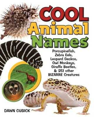 Cool Animal Names: Porcupine Fish, Zebra Eels, Leopard Geckos, Owl Monkeys, Giraffe Beetles, & 251 Other Bizarre Creatures - Cusick, Dawn