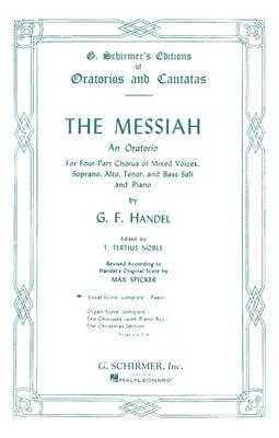 G. F. Handel: Messiah- (Schirmer Vocal Score) - Handel, George Frideric