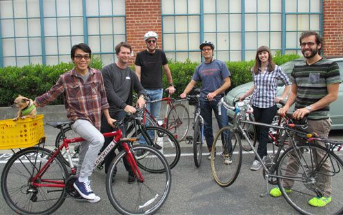 At Alibris, we encourage everyone to bike to work.