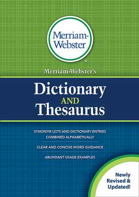 Merriam-Webster's Dictionary and Thesaurus - Merriam-Webster (Editor)