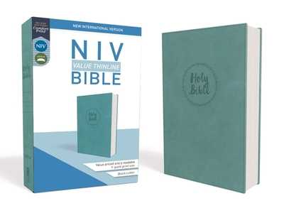 NIV, Value Thinline Bible, Imitation Leather, Blue - Zondervan
