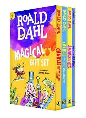 Roald Dahl Magical Gift Set (4 Books): Charlie and the Chocolate Factory, James and the Giant Peach, Fantastic Mr. Fox, Charlie and the Great Glass Elevator - Dahl, Roald