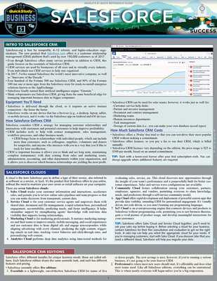 Salesforce: a QuickStudy Laminated Reference Guide - Spencer, Christopher Matthew