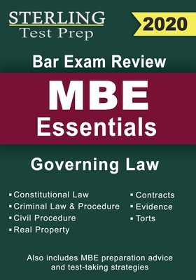 Sterling Test Prep Bar Exam Review MBE Essentials: Governing Law Outlines - Prep, Sterling Test