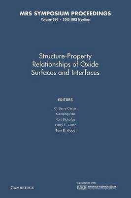 Structure-Property Relationships of Oxide Surfaces and Interfaces: Volume 654 - Carter, C. Barry (Editor), and Pan, Xiaoqing (Editor), and Sickafus, Kurt (Editor)