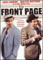 The Front Page - Billy Wilder