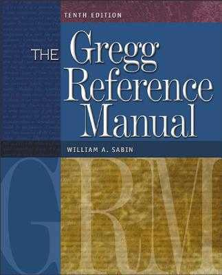 The Gregg Reference Manual - Sabin, William A