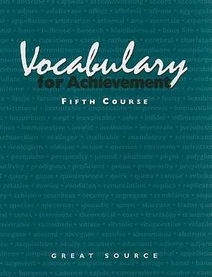 Vocabulary for Achievement, Fifth Course - Richek, Margaret Ann, and McRae, Arlin T, and Weiler, Susan K