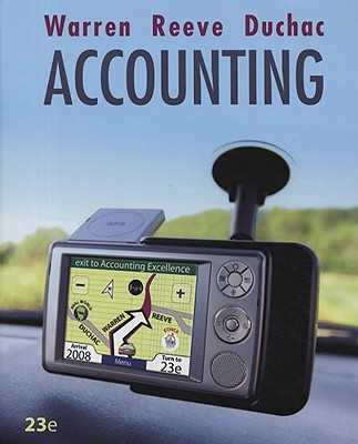 Accounting - Warren, Carl S, Dr., and Reeve, James M, Dr., and Duchac, Jonathan E