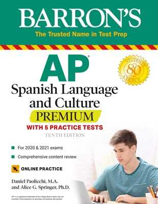 AP Spanish Language and Culture Premium: With 5 Practice Tests - Paolicchi, Daniel, and Springer, Alice G