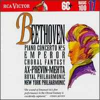 Beethoven: Piano Concerto No.5; Coriolan Overture; Choral Fantasy - Emanuel Ax (piano); New York Choral Artists (choir, chorus)