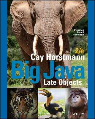 Big Java Late Objects - Horstmann, Cay S