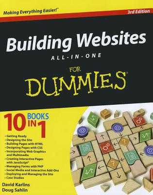 Building Websites All-in-One For Dummies - Karlins, David, and Sahlin, Doug