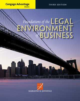 Cengage Advantage Books: Foundations of the Legal Environment of Business - Jennings, Marianne