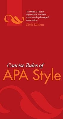 Concise Rules of APA Style - American Psychological Association