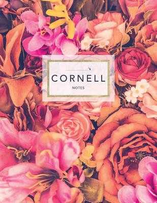 "Cornell Notes: Floral Roses - 120 White Pages 8.5x11"" - Note Taking System - Journals, Jolly"