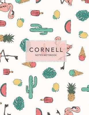 "Cornell Notes Notebook: Cactus + Flamingo - 120 Pages 8.5x11"" - Note Taking System - Notes, Cornell, and Journals, Jolly"