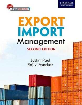 Export Import Management - Paul, Justin, and Aserkar, Rajiv