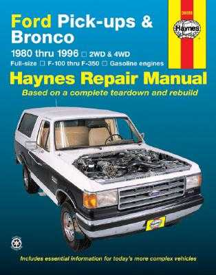Ford Full-Size Pickups and Bronco, 1980-1996 - Haynes Publishing, and Christman, Mark, and Haynes, John