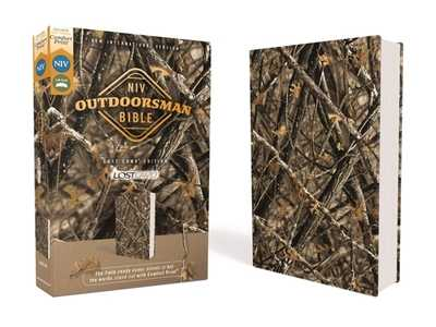 Niv, Outdoorsman Bible, Lost Camo Edition, Leathersoft, Red Letter Edition, Comfort Print: The Field-Ready Cover Blends in But the Words Stand Out with Comfort Print - Cruise, Jason (Editor), and Zondervan